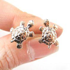 Cute Turtle Tortoise Sea Animal Stud Earrings in