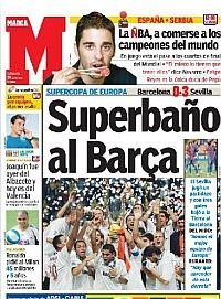 El Sevilla gana su primera Supercopa de al Barça - MARCA.com