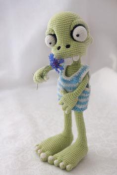 SALE 25% PATTERN Zombie boy crochet pattern by dsMouseBears