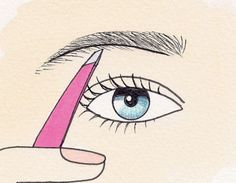Determine brow thickness for perfect eyebrows