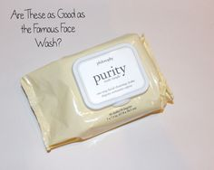 Tried & Tested   Philosophy's Purity Face Wipes!