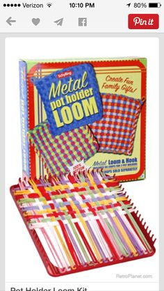 Pot holder loom - The first time I played with this was when I was 8 y.o. in the hospital.