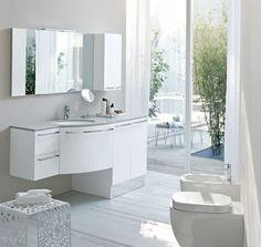 Mobile bagno lavanderia con base porta lavatrice in finitura ...