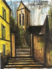 Image; Eglise de village Artist; Bernard Buffet (1928 to '99) Medium; Pastel COPYRIGHT © TRADEMARKED ™