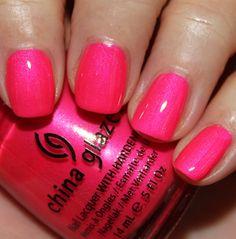 """Love's A Beach"" is a neon fuchsia pink shimmer."