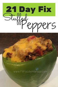 21 Day fix approved stuffed peppers