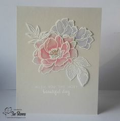 Sue's Card Craft: ATSM, Fusion, Happy Little Stampers, Less Is More, Seize The Birthday Stamped on vellum Altenew Cards, Stampin Up Cards, Birthday Greeting Cards, Greeting Cards Handmade, Birthday Greetings, Card Making Inspiration, Making Ideas, Embossed Cards, Beautiful Handmade Cards
