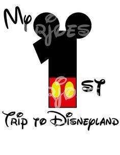 Mickey Mouse First Trip Disney DIY iron On Printable  Disney Sweatshirt Pillowcase Shirt Cruise. $5.00, via Etsy.
