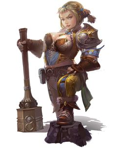 ArcheAge original dwarf female concept. Sadly this design was ignored in subsequent developments and eventually they just made them loli's.