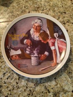 Norman Rockwell Collector's Plate Mother's Day by JewelzVintage