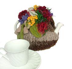 Tea Cozy OOAK Crochet Tea Cosy with Australian Wild Flowers, Aussie Tea Cosy…