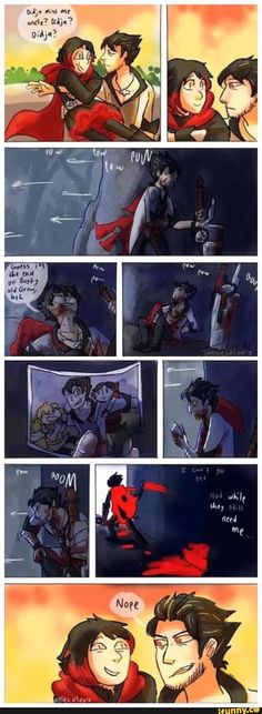 Qrow is their Uncle but he acts like a Godfather