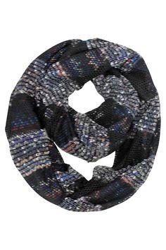 Two-Tone Knit Infinity Scarf