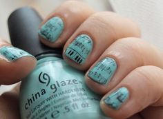 Musical notes NOTD   Photos   She Said Beauty