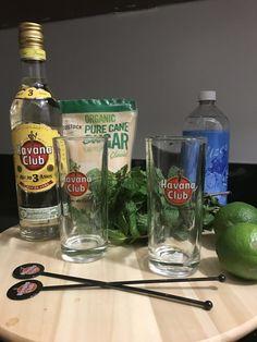 cuban souvenir havana club 3 year rum mojitos glasses