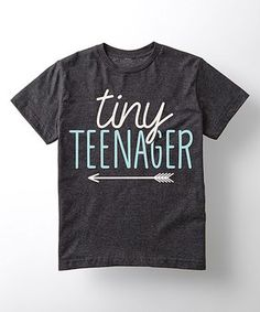 Heather Charcoal 'Tiny Teenager' Tee - Toddler & Girls