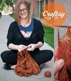 Fix-It Friday: Dropped Stitches