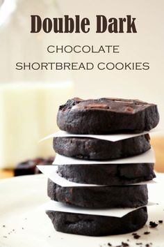 double dark chocolate shortbread cookies double dark chocolate ...