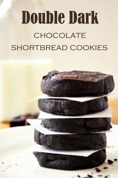 double dark chocolate shortbread cookies double dark chocolate ...