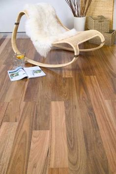 'Spotted Gum' Timber Flooring - Breath easy with a timber floor. It is excellent for asthmatics and those with allergies as it does not harbour dust mites or other allergens.