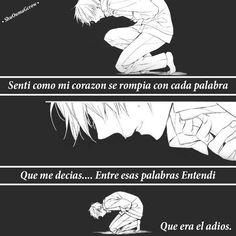 Sentí como mi corazón. #ShuOumaGcrow #Anime #Frases_anime #frases