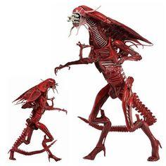 Aliens Figures - Xenomorph Genocide Red Queen Ultra Deluxe Boxed Action Figure