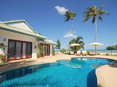 Samui beach...Sleeps up to 9 people and is all inclusive (meals, spa treatment per guest per day) Oy!!