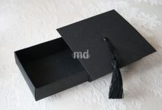 I came up with a new idea over the weekend – probably someone else already thought of this too but I have not seen this anywhere yet. What I did have was a tiny graduation cap that someone m… Graduation Crafts, Graduation Invitations, Graduation Ideas, Matchbox Template, Creative Box, Money Holders, Money Cards, Fancy Fold Cards, Grad Cap