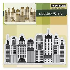 Penny Black Cling Stamp SKYLINE Rubber Unmounted 40-246  40-246 /1.2