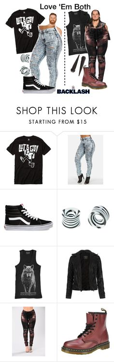 """Sami Zayn Wins!"" by black-onyxx ❤ liked on Polyvore featuring WWE, Vans, Hot Topic, Blackcraft, AllSaints and Dr. Martens"