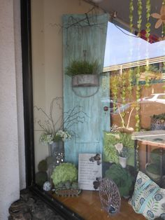 Shop window in LaJolla Beach....have to do this with one of my old doors