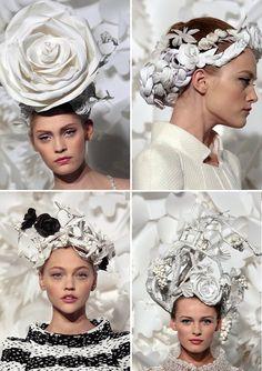 chanel haute couture headpieces.