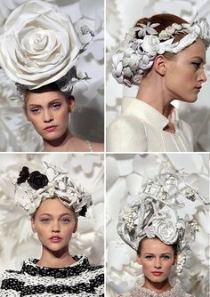 Katsuya Kamon, Milliner, hats designed for Chanel Haute Couture