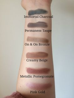 Maybelline Colour Tattoo Cream Eyeshadow Review Swatches emilyloula Immortal Charcoal Permanent Taupe On & On Bronze Creamy Beige Metallic Pomegranate Pink Gold