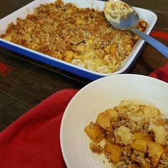 Healthy Apple and Custard Crumble
