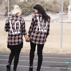 Aren't you plaid these flannels are so cute? | Chi Omega | Made by University Tees | www.universitytees.com