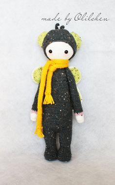 Buzz the fly crocheted doll MADE TO ORDER by freshlycrocheted