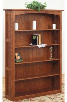 This Mission style bookcase would look great in your home or office..