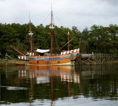 """Roanoke Island, America's """"Lost Colony""""!  Replica of the Elizabeth which carried the folks who later disappeared."""