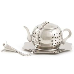Stainless Steel Brown Betty Tea Infuser With Drip Tray Lana's The Little House http://www.amazon.com/dp/B004QDPHVO/ref=cm_sw_r_pi_dp_5qDNtb1FSB5H3XMF