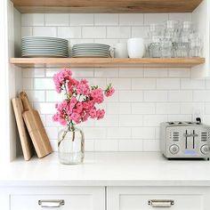 Stacked Kitchen Shelves