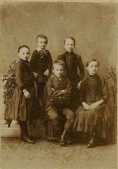 Antique Photo Album: Children by