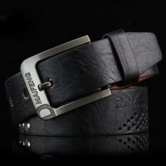 Stylish Square Shape Pin Buckle Wide Belt For Men
