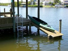 Great idea when building dock/deck to have a launch for kayaks as well