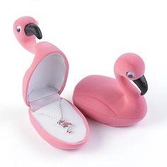 Flamingo Necklace in Velour Box