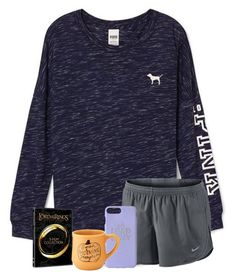 """Oorn"" by wildasyou ❤ liked on Polyvore featuring Victoria's Secret and NIKE"