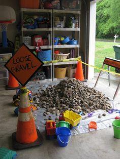 gravel/rock pile construction party