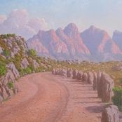 Baines Kloof by Volskenk Land Surveyors, South African Art, African Artists, Mountain Range, Travel Around, Monument Valley, Art Gallery, Country Roads, Landscape
