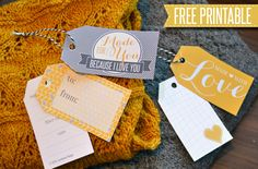 Free Gift Tag Printable for your next handmade gift