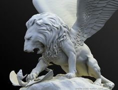 Winged Lion - back tattoo. Design it myself.